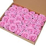 Walkretynbe Lot de 30 roses artificielles réalistes pour la Saint-Valentin Bleu,...