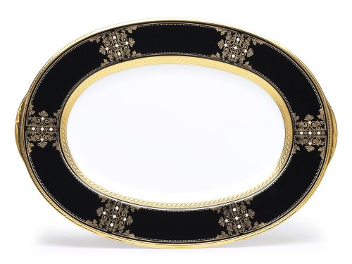 Noritake Evening Majesty Oval Platter, 14-inches