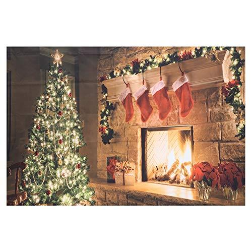 Tapiz navideño Medias navideñas Tapices Alfombra Colgante de Pared Decoración de Arte de Pared para Sala de Estar Dormitorio Dormitorio 59.1x51.2in