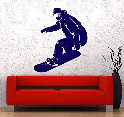 Wandaufkleber Wohnzimmer Schlafzimmer Dekoration Wandtattoos Snowboard Extremsport Kinderzimmer Snowboard Aufkleber Sport Wandaufkleber 56 * 67Cm