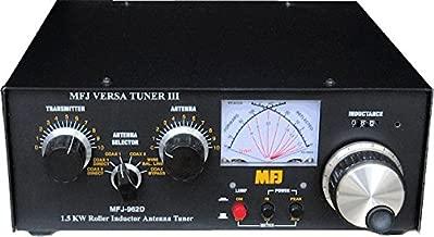 MFJ Enterprises MFJ-962D 1.8-30 MHz Versa Tuner III AirCore Roller iductor Antenna Tuner Handles 1500 Watts PEP SSB Amplifier Input Power (800 Watts PEP SSB amplifier output power) Also covers MARS and WARC Bands
