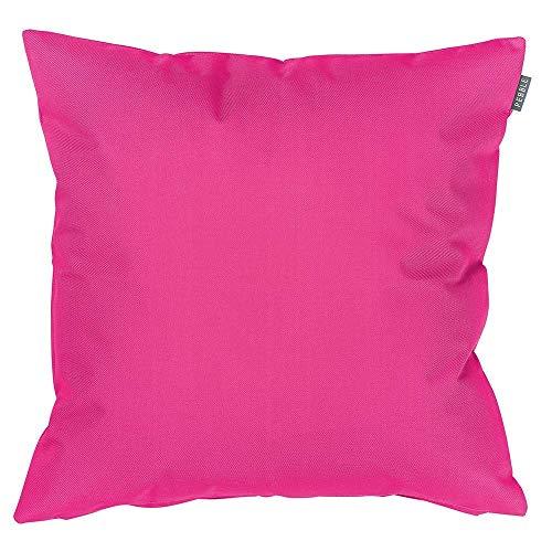 Bean Bag Bazaar Gartenkissen, Rosa, 4er-Pack, 43cm, Kissen Wasserabweisend, Textilfaserfüllung–, Dekoratives Zierkissen für Gartenbänke, Stühle oder Sofas