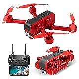rzoizwko Drone, GPS Drone con cámara 4K para Adultos, 5G WiFi Transmission FPV Live Video Drone, RC Quadcopter con Retorno automático a casa, Sígueme, Waypoints, Circle Fly, para Adultos y principian