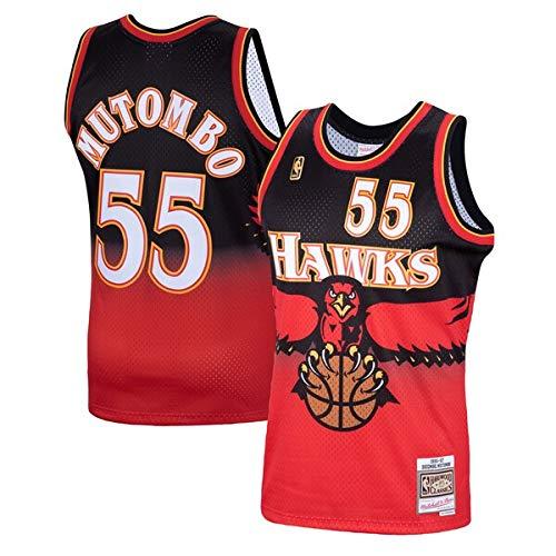 Mitchell & Ness Dikembe Mutombo #55 Atlanta Hawks 1996-97 Swingman NBA Jersey, S