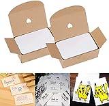 Tarjetas de papel en blanco, 200 tarjetas de mensaje, tarjetas de palabras, tarjetas de papel kraft blanco, tarjetas de papel para bricolaje, ideales para grafitis, creación de 8,9 x 5,2 cm
