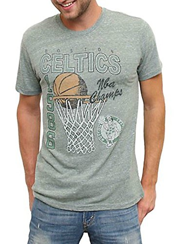 TV Store 1986 Boston Celtics NBA Champs Light Hunter Heather – Camiseta para hombre Hell Heather Hunter Grün Large