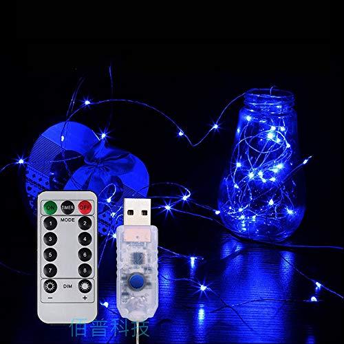 QHQH Striscia LED Piccola Lanterna a Filo Cielo Pieno di Stelle luci Decorazione della Stanza luci Telecomando USB luci Lampeggianti 8 modalità per Camera Cucina TV Festa