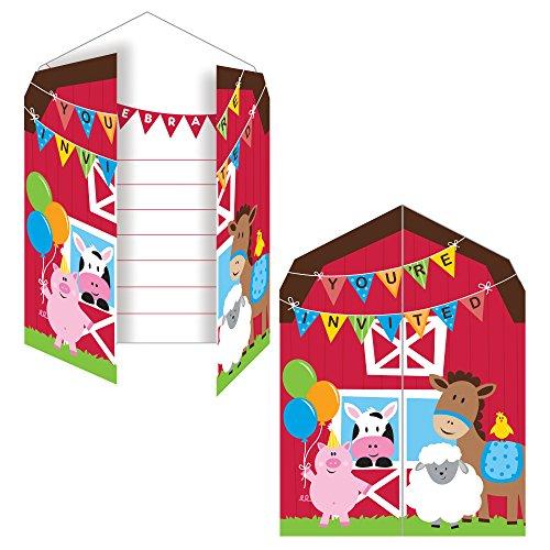 Converting NEU Einladung Farm Babys, 10x12 cm, 8 STK