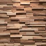 Plaquette de parement bois recyclé UltraWood Teak Firenze