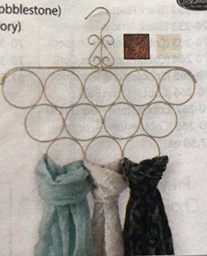 """Generic YH-US3-160519-111 8yh3194yh r 16""""WX13.5""""H Organizer All Metal Cobbleston Scarf/Tie Hanger Scarf/Tie Cobblestone Color ck Organi Holder Rack nger Hold 16""""WX13.5""""H"""