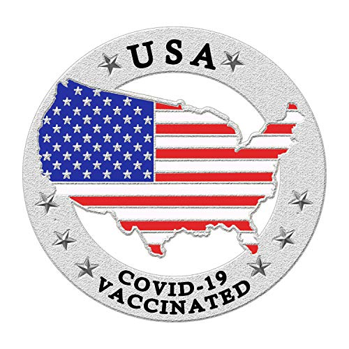 Vaccinated Pin - Vaccine Pin - American USA Flag Lapel Pin Buttons- United States Coronavirus Vaccinated Enamel Pins for Suit