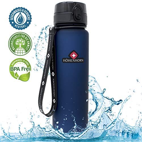 Höhenhorn Urach Trinkflasche 1L Wasserflasche Dunkelblau