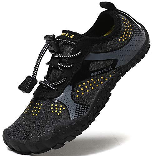 Lvptsh Zapatos de Agua para Niños Zapatos de Playa Secado Rápido Descalza Escarpines de Verano Deportes Acuáticos Swim Beach Surf Yoga,Negro,EU30