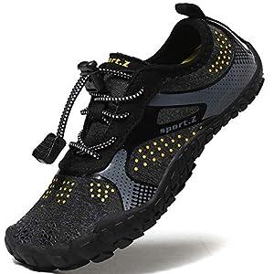 Lvptsh Zapatos de Agua para Niños Zapatos de Playa Secado Rápido Descalza Escarpines de Verano Deportes Acuáticos Swim Beach Surf Yoga,Negro,EU32