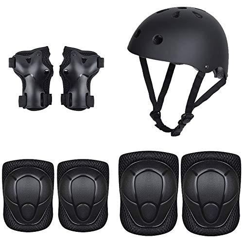 ZJHHW Kinderfahrerschutzausrüstung Set Kinder-Schlittschuh-Schutzausrüstung 7 Sets