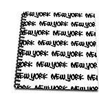 3dRose db 157616 2 York Text Design-Black Words on White-Ny City Souvenir NYC