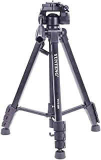 VCT 668 Professional Photo Video Tripod with Head Fluid Pan for Canon Nikon Sony SLR DSLR Cameras