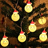 FDET String Lights Halloween Ornament Decoration Outdoor Pumpkin Snowman String Lights Illuminazione Natalizia per Feste in Giardino, Pupazzo di Neve, 3M 20LEDS