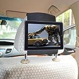 TFY iPad 4 / iPad 3 / iPad 2 Car Headrest Mount HolderFast-Attach Fast-Release Edition - Black