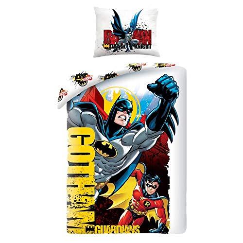 Batman and Robin Gotham Single Duvet Cover Set