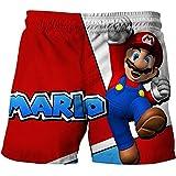 Shorts de playa Mario Pantalones cortos de tablero de dibujos animados Pantalones cortos de Super Mario-Luigi Juegos de dibujos animados Ropa para niños Pantalones para niños Camisetas para niños Ropa