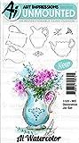 Art Impressions Watercolor Cling Rubber Stamps-Decorative Jar