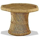 Tidyard Mesa Auxiliar de jardín mesita de café Exterior Mesa de Centro Octagonal bambú 60x60x45 cm