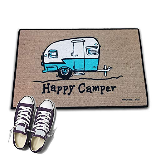 Product Image 1: HIGH COTTON Welcome Doormat – Happy Camper with Retro Camper
