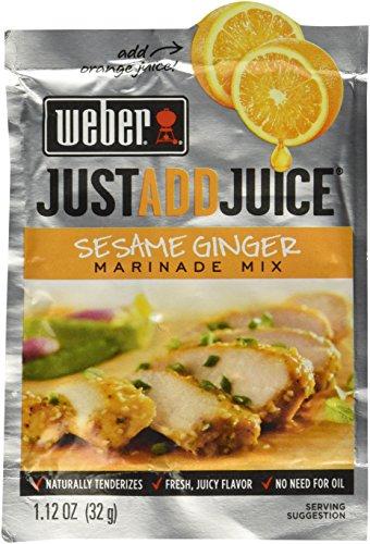 Weber Sesame Ginger Marinade Mix, 1.12 oz. Packets (4 Pack) Just Add Juice!