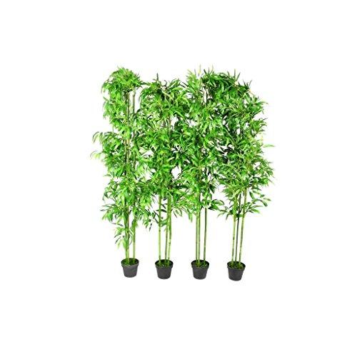 GoodWork4UEu 4 x Kunstbambus Bambus Kunstbaum 1,90m Heim & Garten Dekoration Künstliche Pflanzen