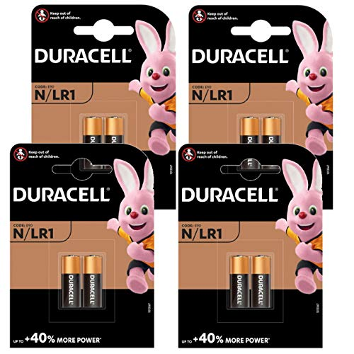 8 x DURACELL LR1 Sicherheit Uhr Alkali Batterien Typ MN9100 N 910 A E90 1,5 V