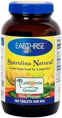 Earthrise Spirulina; 500 mg 360 Tablets from Earthrise