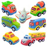 TWS Unbreakable Pull Back Car Toys Automobile Car Set for Kids - Set of 7