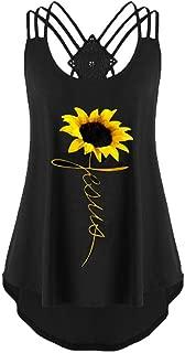 COOlCCI_Womens Clothing 〓Coolcci〓Womens Criss Cross Tank Tops Blouse Tops Vest Camisoles