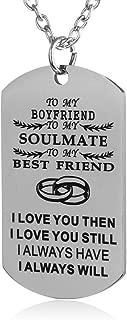 FAYERXL Gift Ideas to My Love Husband Wife Boyfriend Girlfriend Fiance Fiancee Military Dog Tag Necklace