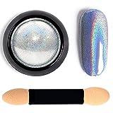 Holographic Nail Powder Holo Powder for Nails Chrome Nail Powder Rainbow Unicorn Mirror Effect Glitter Dust Manicure Pigment Nail Art, 1 Gram
