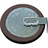 Panasonic VL2330-1 Lithium Coin Cell Battery, 3V, VL2330/HFN Rechargeable