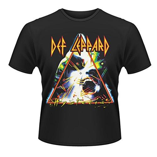 Plastic Head Def Leppard Hysteria Camiseta, Negro, Small para Hombre