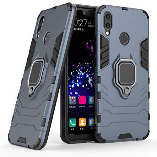 LuluMain Kompatibel mit Huawei P Smart+ Hülle, Ring Ständer Magnetischer Handyhalter Auto Caseme Schutzhülle Case für Huawei P Smart Plus, Nova 3i (Navy Blau)
