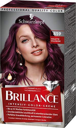 Brillance Intensiv-Color-Creme Haarfarbe 859 Violette Wildseide Stufe 3, 3er Pack(3 x 160 ml)