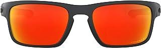 نظارة ستيلث اسين فيت الشمسية للرجال من اوكلي، فضي، مربعة الشكل - Oo9409