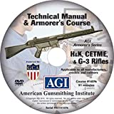 American Gunsmithing Institute Armorer's Course Video on DVD for H&K, CETME & G-3 Rifles - Technical Instructions for Disassembly, Cleaning, Reassembly and More
