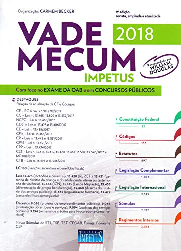 Vade Mecum Impetus 2018: com Foco no Exame da OAB e em Concursos Públicos