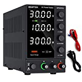 DC Power Supply Variable, Adjustable Switching Regulated Power Supply (0-30 V 0-10 A) with 4-Digits LED Display, 5V/3.6A USB Quick-Charge Interface, Short Circuit Alarm, Coarse and Fine Adjustments