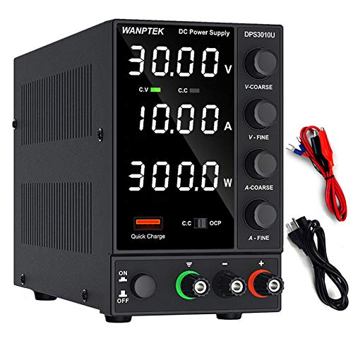 Wanptek DC Power Supply Variable with Adjustable Switching Regulated Power Supply, 5V/3.6A USB Quick-Charge Interface