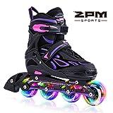 2PM SPORTS Vinal Girls Adjustable Inline Skates with Light up Wheels Beginner...