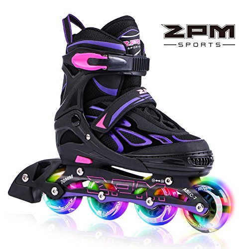 2PM SPORTS Vinal Girls Adjustable Inline Skates with Light...