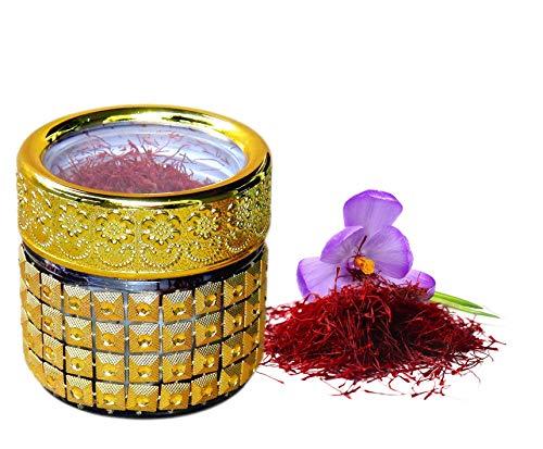 BLUMENTAL BAYERN Bio Safran , 100% natürlich, Premium Qualität ganz rot Safranfäden mit einem Deutschen Bio-Zertifikat (3 gr)