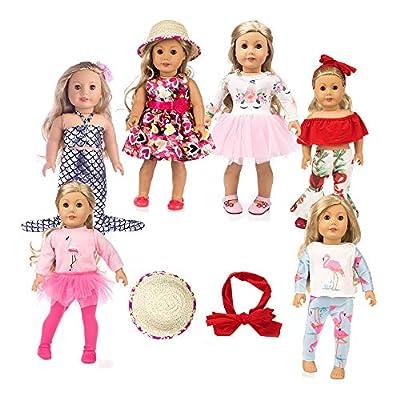 american girsl doll unicorn 11pc american girsl doll clothes 18 inch Doll Clothes American girsl Doll Accessories ,American girsl Doll Unicorn Clothes,American girsl Doll Unicorn Accessories and Clot by DSHFNsd