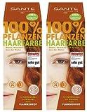 Sante Pflanzenhaarfarbe Haarfarbe im Doppelpack flammenrot 2 x 100 g im Set für ein tolles...